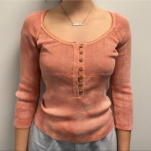 Free people tie dye sweater Henley